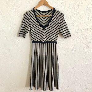 Boden Amelie Sweater Dress Light Gray / Navy 2R